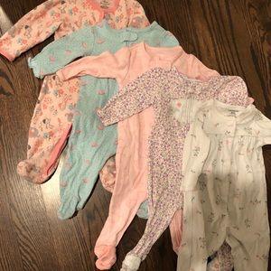 Baby girl pajamas / sleep and plays 6 months